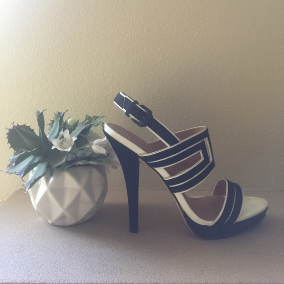 8a1981e7ae4 L.A.M.B. Black & White Heels
